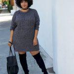 8 стильных идей, как одеваться в холодное время года девушкам размера plus size