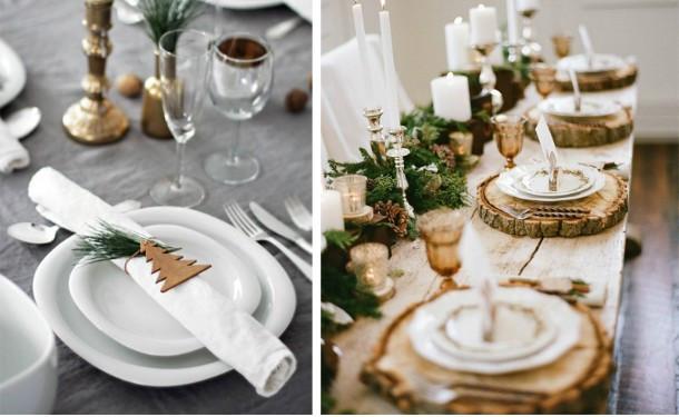 Как украсить стол на Новый год в скандинавском стиле: 27 фото